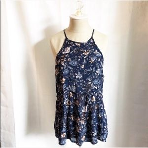 American eagle outfitters floral tunic top